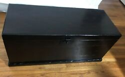 Rare Pottery Barn Solid Wood Steamer Coffee Table Emmett Trunk Chest Storage