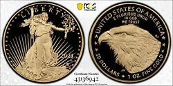 2021-w Type 2 First Strike 50 Gold Eagle Proof One Oz. Pcgs Pr69dcam New Design