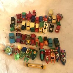 Vintage Lot- Toy Cars Boats Trucks And Spaceships From Kinder Surprise Egg