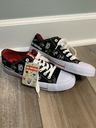 One Direction 1d Tennis Shoes Black And White Autographed Low Top Women Sz 8 New