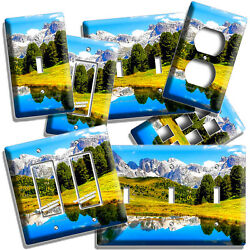 Mountains Nature Still Life Water Reflection Light Switch Outlet Wall Plates Art
