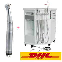 Dhl Ship All In 1 Mobile Dental Delivery System Cart Free High Speed Handpiece