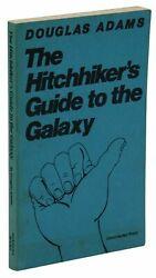 Hitchhikerand039s Guide To The Galaxy Douglas Adams Uncorrected Proof First Edition