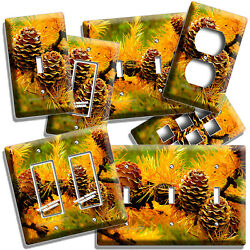 Pine Cones Country Forest Wild Nature Light Switch Outlet Wall Plates Room Decor