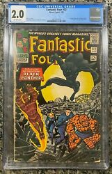 FANTASTIC FOUR #52 1ST APPEARANCE BLACK PANTHER *CGC 2.0 OFF WHITE PAGES*