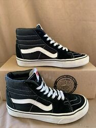 Vans Off The Wall KIDS SK8 HI Black White High Tops 721454 KID Size 4 Lace Up