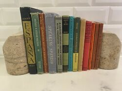Lot Of 15 Antique And Vintage Textbooks, School Books And Readers In Spanish