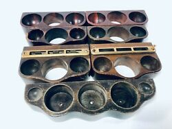 Victor Victrola Brunswick Phonograph Cabinet Wood Needle Cup Holder Lot Of 7