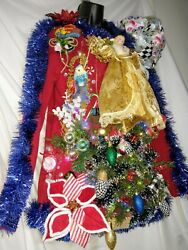 Red Handmade Women Ugly Christmas Sweater Size Small