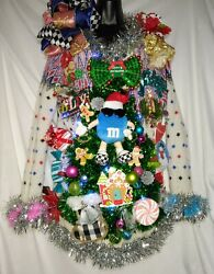 Handmade Shimmer Tinsel Multi Color Women Ugly Christmas Sweater Sz Large