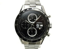 Tag Heuer Carrera Chronograph Tachymeter Cv2010 Menand039s Watch From Japan N0927