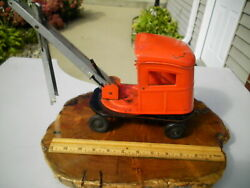 Vintage 1940 Rare Kingsbury Toy Steam Shovel Pressed Steel Made One Year - As Is