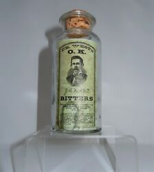 T.c.w. Co. Apothecary Bottle Labeled Dr. West's Ok Bitters