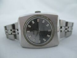 Benrus Automatic Wristwatch Silver Tone Stainless Steel Band Collectible