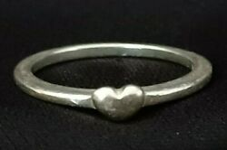 Vintage Sterling Silver Dainty Heart Ring Size 7 Solid 925 Silver 1.8g