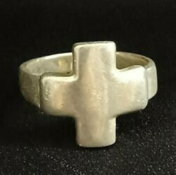 Vintage Sterling Silver Cross Ring Size 8 Thailand Solid 925 Silver 5.2g