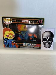 Ghost Rider Black Light Funko Pop Popcultcha Exclusive In Hand Fast Ship