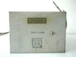 One Vintage Western Electric We D163046 Power Transformer For Tube Amplifier