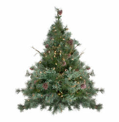 Northlight 3#x27; x 28quot; Country Mixed Pine Artificial Christmas Wall Tree Clear