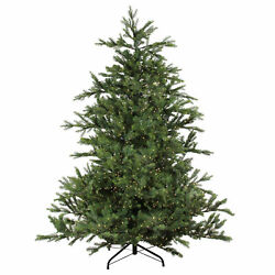 Northlight 6.5and039 X 60 Oregon Noble Fir Artificial Christmas Tree Clear Micro Led