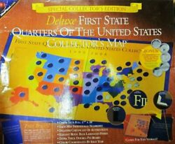 Deluxe First State Quarters Of The United States Collectorand039s Map 1999-2008