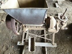 Antique Hit And Miss Engine Era Burr Mill Feed Grinder For Parts Or Restoration