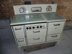 Antique Spark Insulated Gas / Wood Burning Cook Stove