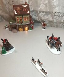 Dept.56-dickens Village-heritage Collection Hather Harness And Tally Ho 6pc Set