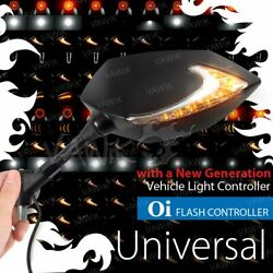 Vawik Mirror Lucifer 2tone Led + Oi Flasher Rate Controller Fits Suzuki Scooter