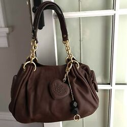 Juicy Couture Brown Leather Hobo Bag W Charms, Large New Nwot. Rare