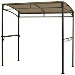 Durable 7and039 X 4.5and039 Grill Gazebo Outdoor Patio Garden Bbq Canopy Shelter-brown