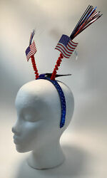 Patriotic Bopper Headband Party Accessory 4th Of July New With Tags