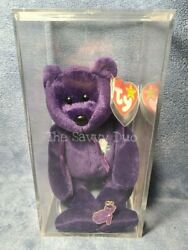 1997 Mint Princess Diana Ty Beanie Baby Pin And Case Pe Pellets No Space No Stamp