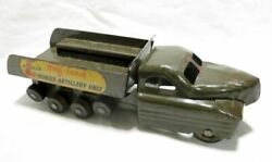 Buddy L 34 Cm Military Truck Tin Plate Toy Wheel Move Made In Usa 1950s Antique