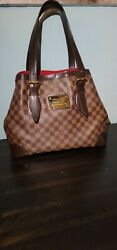 Louis Vuittons Damier Handbags Authentic Preowned Hampstead Mm