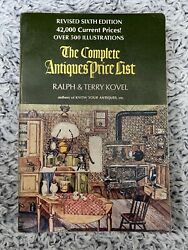 The Complete Antiques Price List Ralph And Terry Kovel 1973