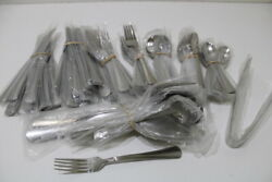 Reed And Barton Arlington Newton 18 /10 Stainless Flatware And Serving Set For 12
