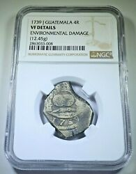 Ngc 1739 Guatemala Silver 4 Reales Antique Date Spanish Colonial Pirate Cob Coin