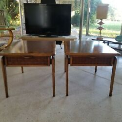 Pair Of Lane Perception 1960s End Tables By Warren Church