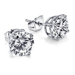 Andpound10600 Solitaire Diamond Earrings 2.00 Carat Ctw White Gold Stud Si2 28750809