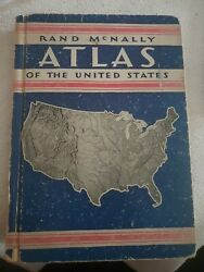 Vintage 1935 Rand Mcnally Atlas Of The United States