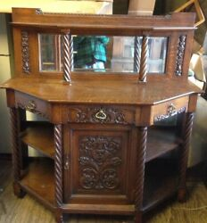 Rare Arts And Crafts Grand Rapids Oak Side Board Shipping Available