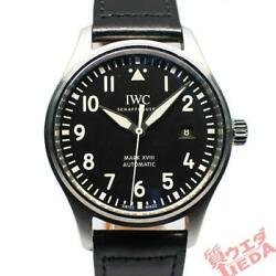 Iw327001 Mark 18 Stainless Leather Santoni Automatic Pilot Menand039s Watch U1002