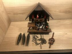 Vintage Lotscher Cuckoo Clock W/swiss Musical Movement Parts Only Not Working