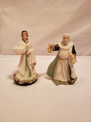 Hawthorne Village 2005 Innkeeper And Devoted Wife, Irish Nativity Pieces, Numbered