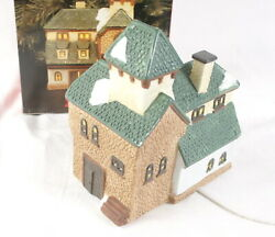 Our Town Taylor House Lighted Christmas Porcelain 1993 First Edition With Box