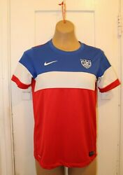 Nike Us Soccer 2014 World Cup Bomb Pop Dri-fit Authentic Jersey Youth Large