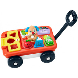 Baby Pull Play Car Infant Push Handle Walker Cart Wagon Learning Playset Toy Set