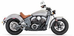 Freedom Indian Scout Turnout 2-into-1 Exhaust Black W/chrome Tips In00084