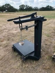 Antique/vintage Fairbanks Platform Weight Scale On Rollers Weight Capacity 2000
